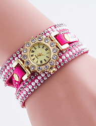 Women's New European Fshion Rhinestone Retro Leather Sunflower Wrapped  Bracelet Watch Cool Watches Unique Watches