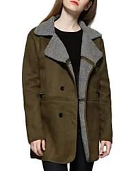 Manteau Aux femmes Manches Longues Street Chic Autres