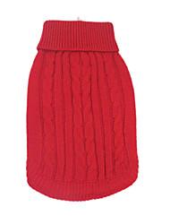 Hunde Pullover Rot / Blau / Braun Hundekleidung Winter einfarbig