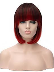 Модное леди синтетический парик ломбера цвет 1b / ошибка прямой бобо жаростойкие волосы синтетические парики