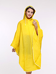 Fresh Plain Raincoat Bike Poncho Female Models Candy-colored Poncho Raincoat