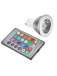 GU10 3w RGB LED ampoule spot (85-265V)