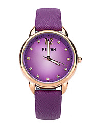 Feifan Women Quartz Wristwatch Hot Fashion Colorful Numerals Casual Watch Clock Hours High Quality Pu Leather Watch Cool Watches Unique Watches