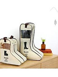Storage Bags / Shoe Bags Shoes Vacuum / Open / Travel,Plastic / Textile,Two-piece