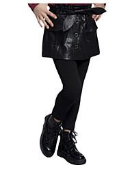 Falda / Pantalones Chica de-Primavera / Otoño-Algodón-Negro