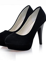 Calçados Femininos-Saltos-Saltos-Salto Agulha-Preto / Rosa-Sintético-Casamento