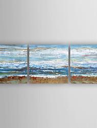 Ручная роспись АбстракцияModern 3 панели Холст Hang-роспись маслом For Украшение дома