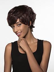 moda elegante breve struttura naturale di Remy mano capelli umani legati parrucca-top per la donna di