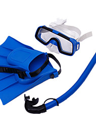 Children Snorkeling Goggles Sambo Goggles Swimming Goggles Breathing Tube suit Flippers