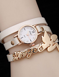 Women's Three Circle Winding Angel Doll Quartz WatchWomen Alloy Diamond Fashion Watch Cool Watches Unique Watches