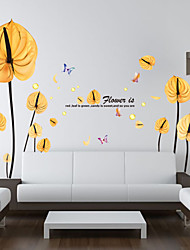 Wall Stickers Wall Decals, Beautiful Flowers PVC Wall Sticker
