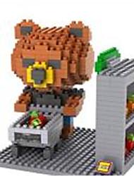 Loz Brown Bear Shopping Loz Diamond Blocks Block Toys DIY Toys(360 Pcs)