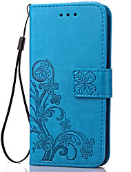 For Sony Case Card Holder / Wallet / with Stand / Flip / Embossed Case Full Body Case Flower Hard PU Leather for Sony
