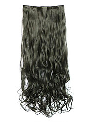 Black Length 70CM Synthetic Curly Hair Non-Trace Five Clip Hair Hair Slice Of A Chip(Color 2)