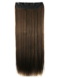 Wig Brown 64CM High Temperature Wire Length Straight Hair Synthetic Hair Extension