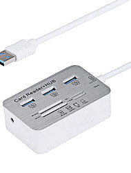 ports USB 3.0 / interface de hub USB lecteur de carte 7.7 * 3.8 * 1.4