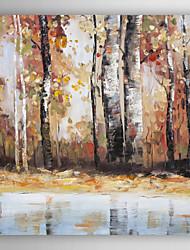 mão pintura a óleo pintado paisagem abstrata folhas de queda com esticada quadro arts® 7 parede