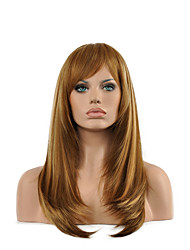Popular Straight Multi-color Woman's Party Synthetic Wigs