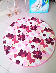 """Hot Sale Super Soft Coral Fleece Material Non-Slip Circular Mat W24"""" x L24""""(Random Color)"""