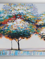 Hand Painted Oil Painting  Landscape Abstract Colourful Trees-Ⅰ with Stretched Frame 7 Wall Arts®