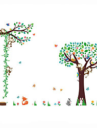 Wall Stickers Wall Decals Style Super Size Monkey Animal Forest PVC Wall Stickers
