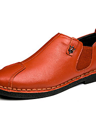 Men's Casual Business Leather Shoes Slip on Breathable Shoes Driving Shoes
