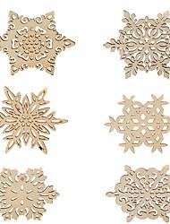 6pcs Schneeflocke Holzuntersetzer-Schalenmatte Platzdeckchen für Tischdekorationen Geschenke