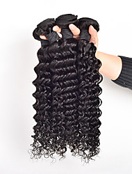 "3Pc/Lot 8""-30"" Malaysia Virgin Hair Deep Curly Human Hair Extensions 100% Unprocessed Malaysia Remy Hair Weaves"
