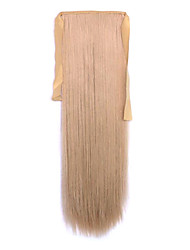 Flaxen Length 60CM Synthetic Bind Type Long Straight Hair Wig Horsetail(Color 22)