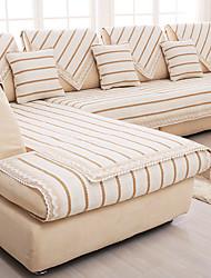 хлопок / лен старый грубый скольжению суперобложка моды четыре сезона ткани дивана подушки бежевый полоса