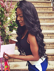 Free Shipping Unprocessed Virgin Brazilian Body Wave Lace Front Human Virgin Hair Wig