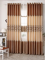 Two Panels European Patchwork Polyester Curtains Drapes