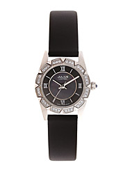 Женские Модные часы Кварцевый Кожа Группа Черный / Бежевый марка