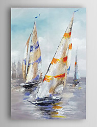 Hand Painted Oil Painting Landscape Set Sail the Boat with Stretched Frame 7 Wall Arts®