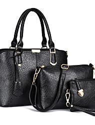 Damen Bag Sets PU Ganzjährig Reißverschluss Blau Gold Schwarz