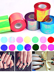 1roll 5cm*100m Broken Glass Nail Art Foil Paper Holographic Shiny Laser Sticker Decoration Manicure Tools