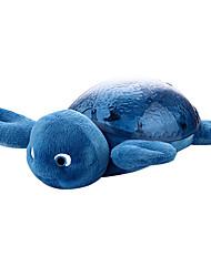 niños noche de la tortuga tortuga bebé luz lámpara música duermen la ayuda de iluminación de interior de la tortuga de la felpa llevó la