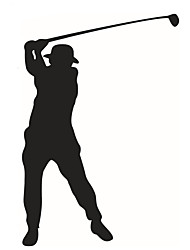 Wall Stickers Wall Decals Style New Golf Sports People PVC Wall Stickers