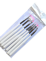 1set Include 7 Pieces Nail Art Draw Image White Stick Nail Pen Brush Manicure Tools ND07