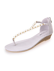 Women's Summer PU Outdoor Office & Career Low Heel White