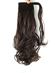 Length Maroon Wig Curls Ponytail 60CM Synthetic Body Wave High Temperature Wire Color 2/33