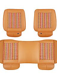L'orange pu voiture en cuir coussin de siège