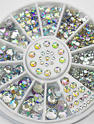 4 размер 300pcs Nail Art Советы кристалл блеск горный хрусталь украшения колеса