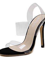 Women's Spring / Summer / Fall Heels Latex / Synthetic Wedding / Office & Career / Party & Evening Stiletto Heel Imitation Pearl Black