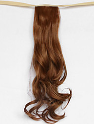 вода волна средней коричневый синтетический тип повязка парик волос хвостик (цвет 27а)