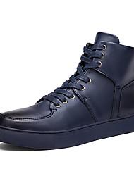 Chaussures Hommes-Extérieure / Bureau & Travail / Décontracté-Noir / Bleu / Blanc-Similicuir-Baskets à la Mode