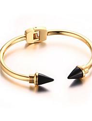Women's Fashion Arrow Gold Stainless Steel Cuff Bracelet