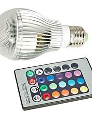 9W E26/E27 Ampoules Globe LED A50 1 LED Haute Puissance 400-550 lm RVB Commandée à Distance AC 85-265 V 1 pièce