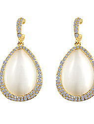South Korea Large Drop Opal Fashion Earrings