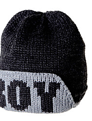 Women Casual Warm Winter Wool Knitted Letters Anti-snow Ski Hat